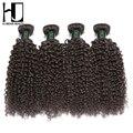 HJ Weave Beauty Brazilian Virgin Hair Kinky Curly Human Hair Bundles 4Pcs 12-24inch Hair Extension Free Shipping