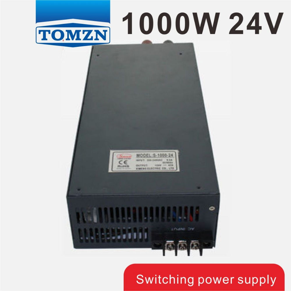 1000W 24V 42A 110V input Single Output Switching power supply for LED Strip light AC to DC best quality 12v 15a 180w switching power supply driver for led strip ac 100 240v input to dc 12v