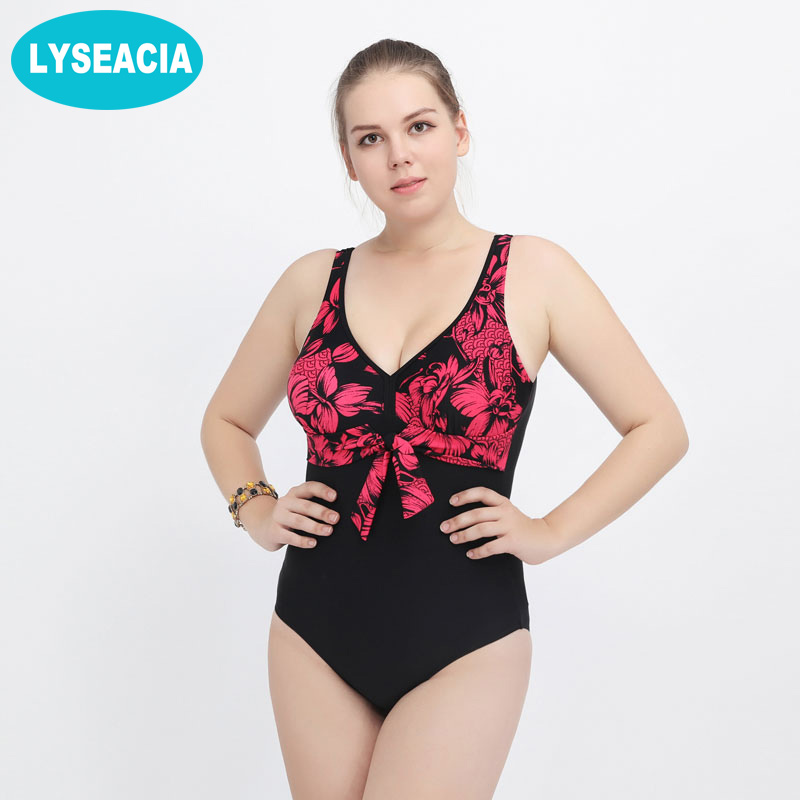 LYSEACIA 2018 Backless Swimwear One Piece Swimsuit Vintage Bathing Suit Printed Plus Size Swimsuits for Women Bodysuit Beachwear 2017 sexy women one piece swimsuit swimwear retro vintage bathing suit beachwear ruffled backless