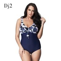 High Quality Brazilian Style Plus Size Swimwear Women One Piece Vintage Retro Swimsuit Plus Size Floral