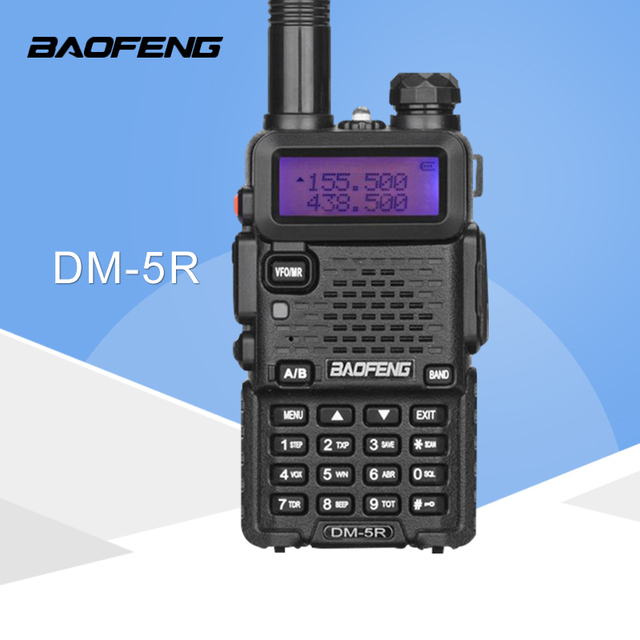 Baofeng DM 5R ווקי טוקי Dual Band חם CB רדיו 2 דרך משדר נייד VHF UHF UV 5R DMR רדיו Communicator סטריאו