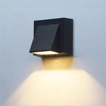 Современный прочный водонепроницаемый черный алюминиевый LedPorch свет для сада коридора вход настенный светильник 1/2 головки 110/220 в