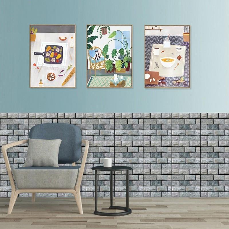 Самоклеющаяся настенная бумага водонепроницаемая каменная настенная бумага s кирпичная настенная бумага декоративные настенные наклейки ...