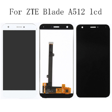 100% tested 5.2'' for zte blade A512 Z10 LCD Display + touch screen digitizer assembly replacement For ZTE Blade A512 Repair kit white black for zte blade a310 lcd display touch screen digitizer assembly replacement free shipping order tracking