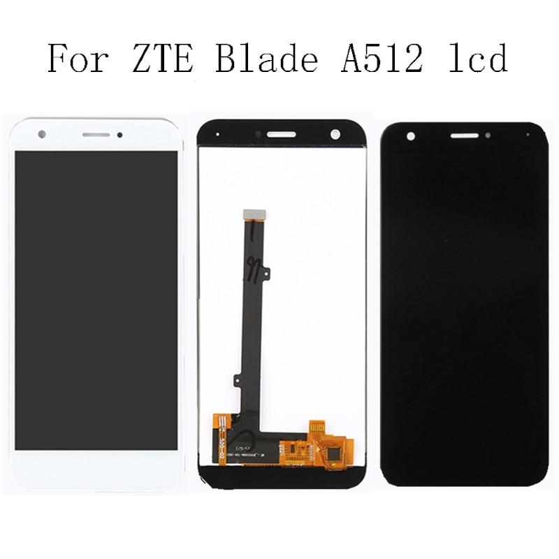 Cep telefonları ve Telekomünikasyon Ürünleri'ten Cep Telefonu LCD'leri'de 5.2 ''marka yeni için zte blade A512 Z10 100% test dokunmatik LCD + dokunmatik ekranlı sayısallaştırıcı grup + aracı siyah ve beyaz title=