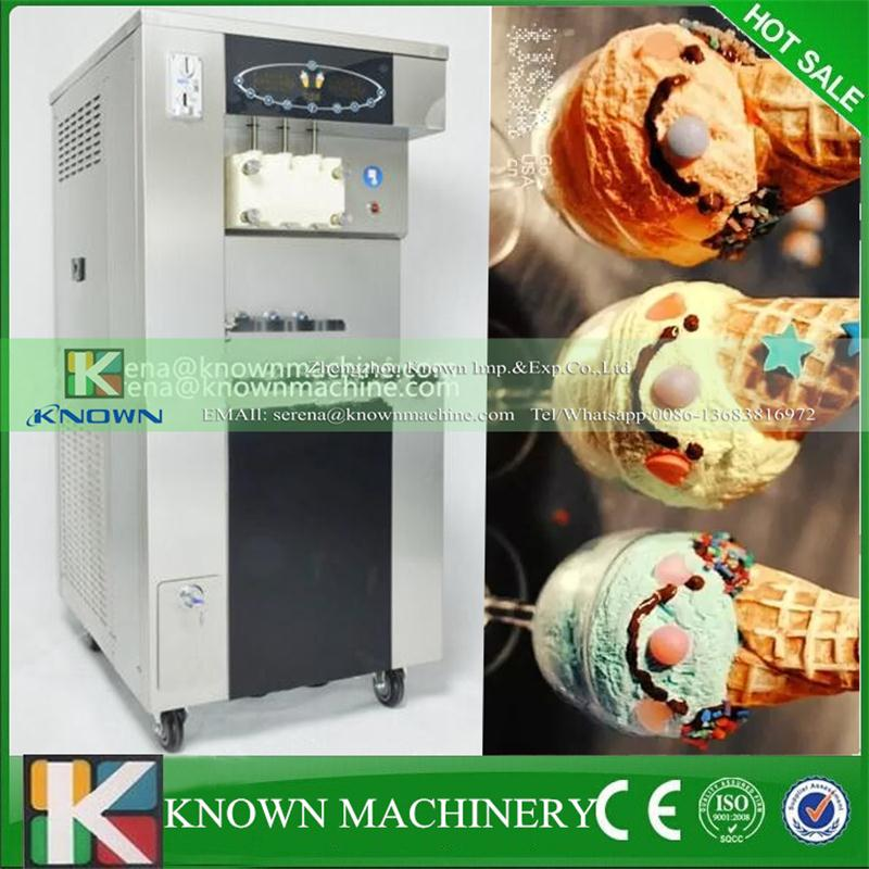 Factory Exclusive Supply Self-service Maunal Soft Ice Cream Vending Machine