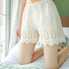 Безопасные шорты с высокой талией, дышащее нижнее белье, сексуальные кружевные шорты под шорты, повседневные безопасные трусики для девочек