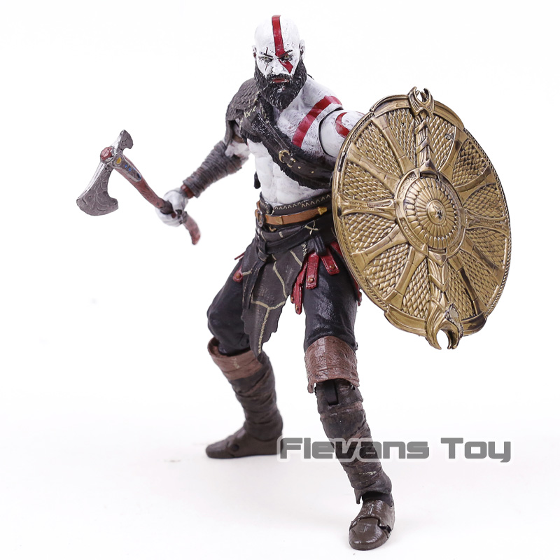 NECA God of War 4 Kratos Figurals PVC Action Figure Brinquedos Collectible Figurines Model Toy fallout vault boy bobble head pvc action figure collectible model toy brinquedos 7 styles