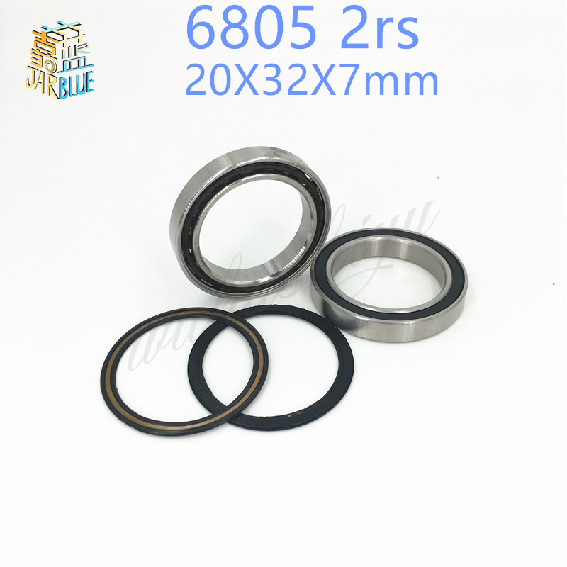 Free shipping 2pcs/lot 6805 2rs 20X32X7mm rubber seal hybrid ceramic bearing 25*37*7mm 680-2RS 6805RS for bicycle part 15267 2rs 15 26 7mm 15267rs si3n4 hybrid ceramic wheel hub bearing