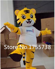 2015 Free shipping tiger Mascot Costume Animal Cartoon fancy dress Adult Size