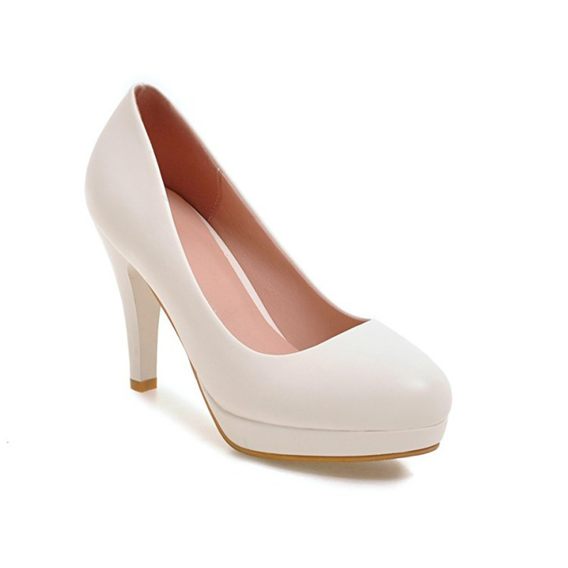 2018 new style shallow mouth high-heeled shoes Slugged bottom Size code4-9 brief occupation Pumps classic 4 color schemes недорго, оригинальная цена