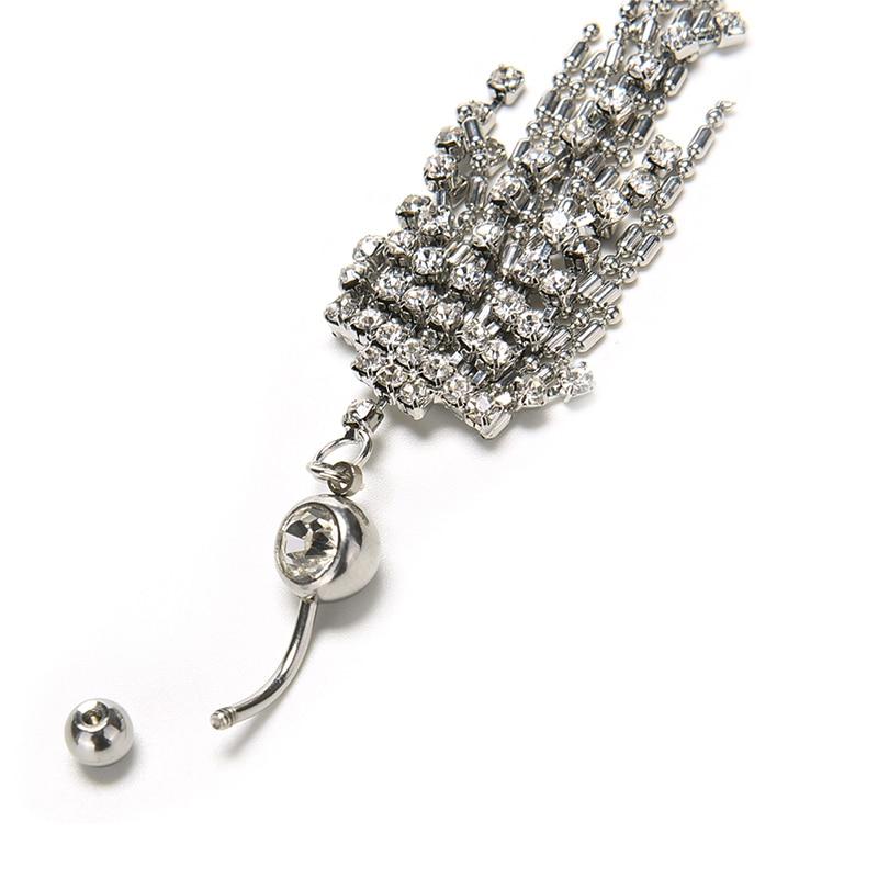 HTB1If42OVXXXXaRXFXXq6xXFXXXL Womens Body Piercing Jewelry Navel Ring With Luxurious Crystal Chain Tassels