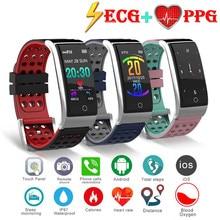E08 Smart Armband Ecg Ppg Bloeddrukmeting Fitness Tracker Horloge Waterdicht Hartslagmeter