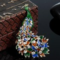 Peacock Broch Perfect Enamel Brooch Pins For Women New Fashion Christmas Jewelry colares Rhinestone Crystal Pin Broaches Bijoux