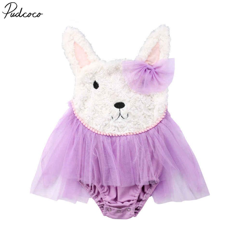 Pudcoco 新生児女の子服ノースリーブ毛深いボディスーツドレス衣装 0-24 ヶ月 Helen115