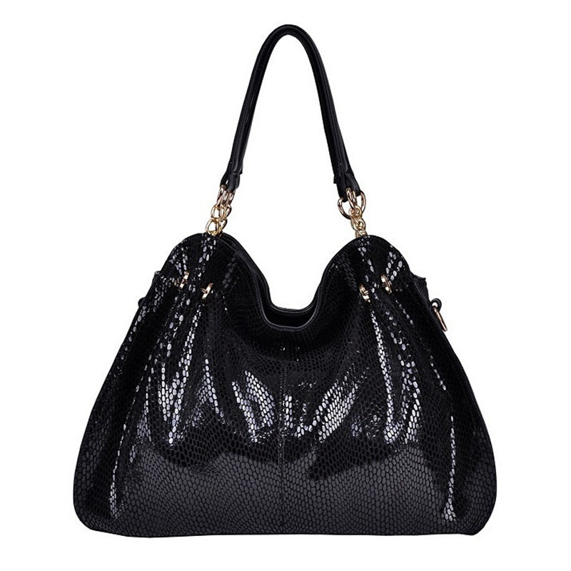 ФОТО Genuine leather Women handbags Serpentine fashion messenger bags for women's shoulder bag vintage Ladies Totes Free shipping