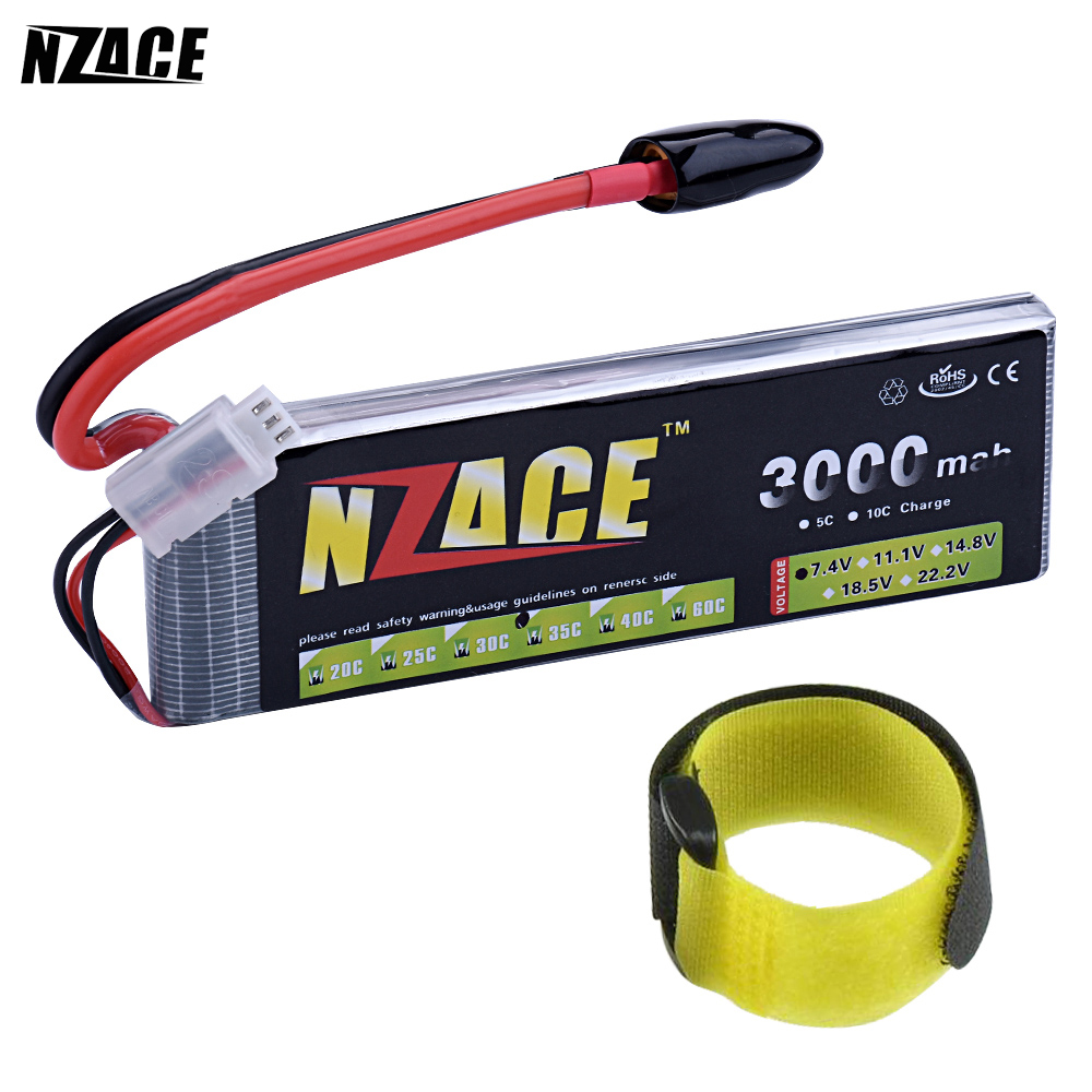 NZACE 2S lipo battery 7.4v 3000mAh 35C rc helicopter rc car rc boat quadcopter remote control toys Li-Polymer battey mos 2s lipo battery 7 4v 5000mah 30c for rc helicopter rc car rc boat quadcopter li polymer battey