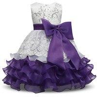 Luxury Baby Girl Fluffy Christening Gown Dress Little Bridesmaid Children S Girl Christmas Dress Kids Evening
