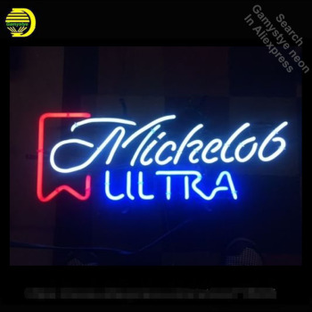 Michelob Ultra Neon Sign neon bulbs Sign neon lights for Game Room Wall Glass Tube Handcraft Iconic Sign store Display signboard