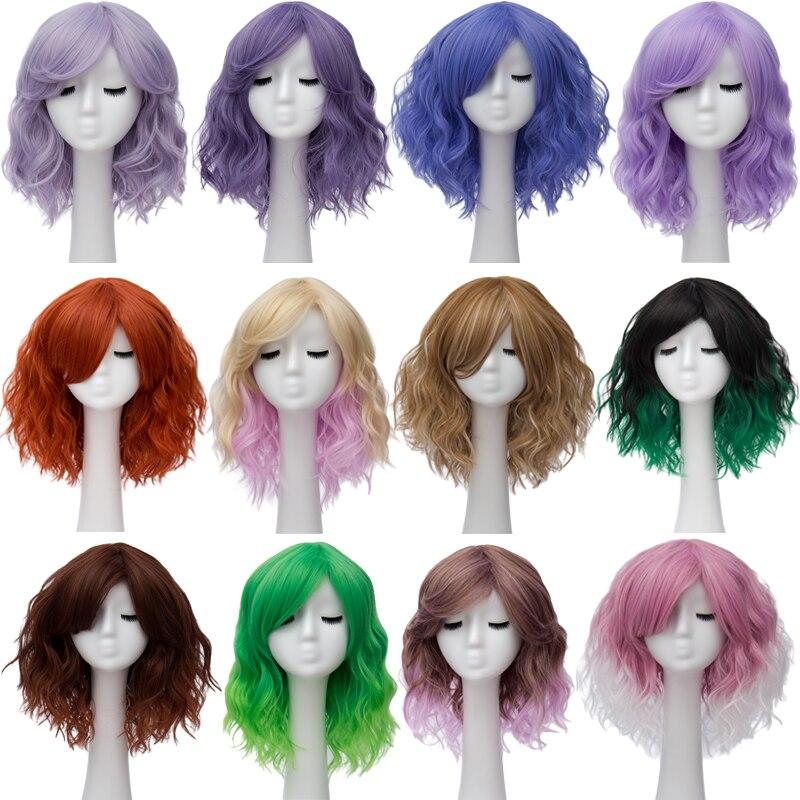 Semelhante pixie cut peruca sintética com franja,