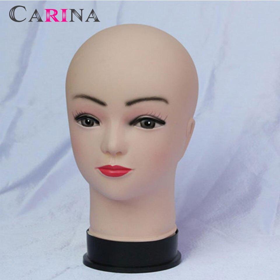 Haute Qualité En Silicone Souple Maquillage Mannequin Tête Pratique Mannequin Tête Femelle Cosmétologie tête de Mannequin de Formation
