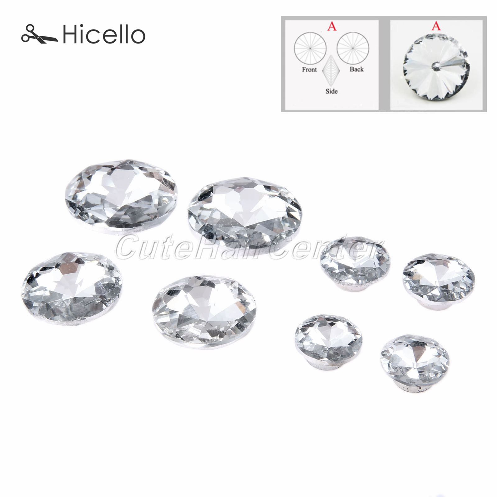 Buttons Home & Garden 10sets Crystal Buckles Glass Buttons Diamond Nails Decorative Sewing Knot 16mm/18mm/25mm/30mm Decoration Hicello