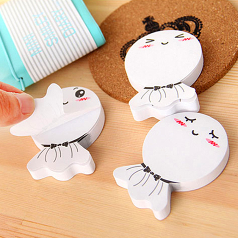 1Pack White Sunny Doll Memo Pad N Times Sticky Notes School Supply Bookmark Post it Label Gift E0334