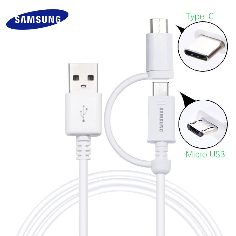 Samsung S8 Charging Adapter Laptop Usb Monitor Adapter Wifi Adapter Kmart Adapter Do Gniazdka Uk Media Markt: Samsung Original 2 In 1 Micro USB Cable Type C Fast