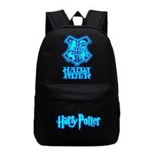 Подростковый рюкзак Harri Potter Hogwarts Платформа 9-3/4 печать школьная сумка светящаяся дорожная сумка для ноутбука Рюкзак Книга Mochila BP0263