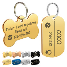 4 Colors Personalized Dog Cat ID Tags Customized Military Tag Engraved Pet Name Birthday Phone No. and Gender with Free Ring