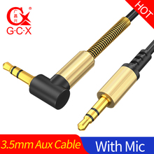 GCX AUX Cable Jack 3.5mm Audio 3.5 mm Extension Cord Speaker for Headphones Car Xiaomi redmi 5 plus Oneplus 5t