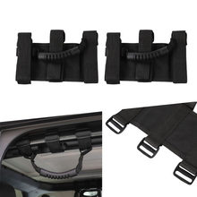 Mobil 2/4Pcs Roll Bar Grab Handle untuk JEEP Wrangler Accessorise YJ TJ JK 4x4WD Roll Bar sisi Grip Pemegang Pegangan(China)