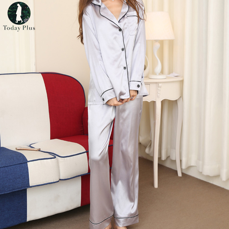 9c7093b855 Package include  1 Pajamas Sets Product Details  1.Leisure Ladies Style  2.Turn-down Neck 3.Loose Version 4.Long Sleeve 5.Lace 6.Simple And  Comfortable