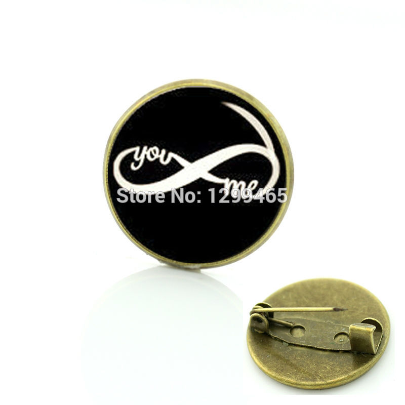 YOU AND ME Character picture brooches Novelty Interesting infinity pins Decoration male Men Necktie badge C 976