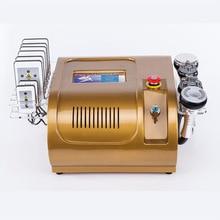 Vacuum RF Skin Care Salon Spa Equipment 40k Ultrasonic liposuction Cavitation 8 Pads 40k cavitation rf lipo vacuum body rf face rf with infrared salon equipment