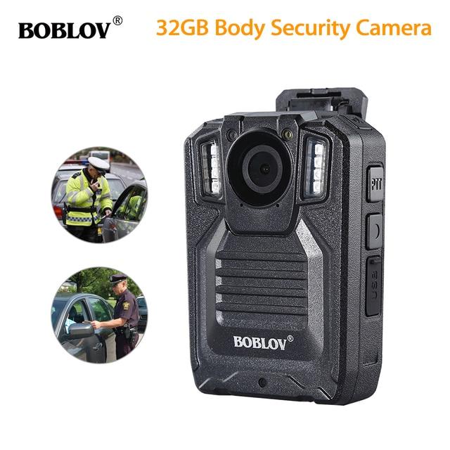 BOBLOV HD9206 AIT Police Body Security Camera 2.0 Inch LCD 3000mAh Battery HD1296P 30FPS Audio Video Recorder Body Worn Camera