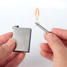 Emergency Fire Starter Flint Match Lighter Metal Outdoor Camping Hiking Instant Survival Tool Safety Durable