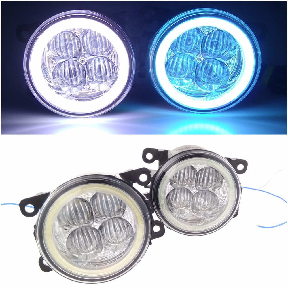 Angel eye LED fog lamp 9CM daytime running light Spotlight DRL OCB lens triumph трусы sexy angel spotlight brazilian