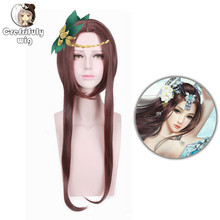 5v5 Arena Game of Valor Middle Part Dark Brown Cosplay Wig Costume Synthetic Hair Layered Party Wigs For Halloween