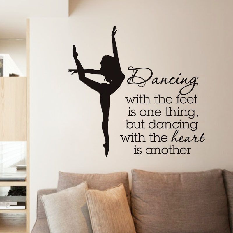 Ballerina Wall Decal STYLE Vinyl Wall Stickers Home Decor ...