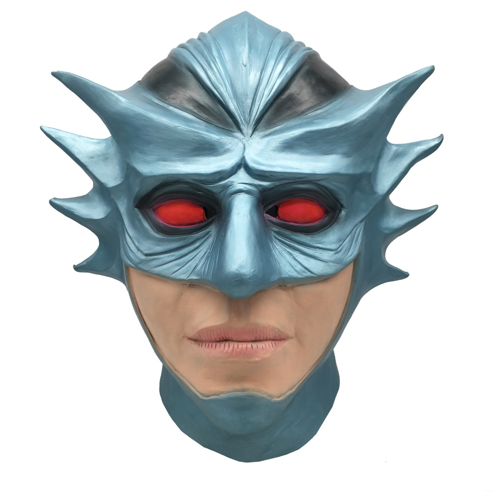 Aquaman Ocean Master Full Head Mask Cosplay Halloween Latex Masks