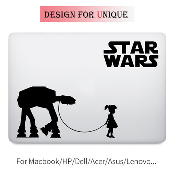 A Girl and Her AT-AT Walker Decal Laptop Sticker for Apple Macbook Pro Air Retina 11 12 13 15 inch Mac Star Wars Notebook Skin image