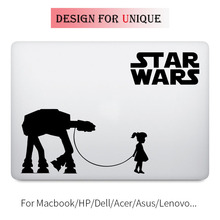 A Girl and Her AT-AT Walker Decal Laptop Sticker for Apple Macbook Pro Air Retina 11 12 13 15 inch Mac Star Wars Notebook Skin