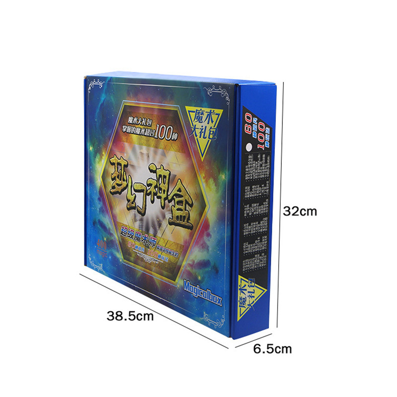 Tours de magie cadeaux boîte ensembles 30 types d'accessoires de magie débutant éducation tours de magie carte pour magiciens professionnels - 3