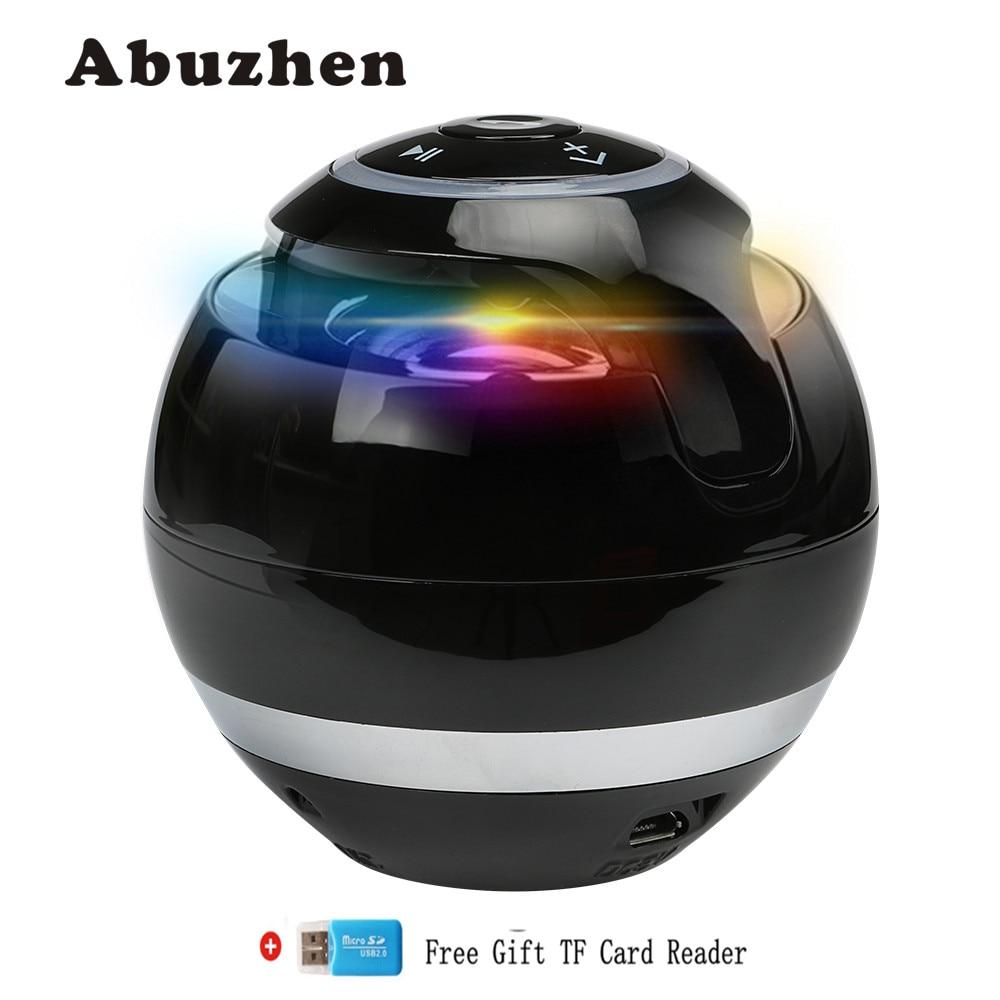 Abuzhen Bluetooth Speaker Wireless Portable Bass Speaker Mini Sound Box Caixa DeSom Bluetooth Receiver with FM Radio LED TF Card cs l01 portable mini car wireless bluetooth speaker w tf card slot black white
