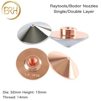 BRH Raytools dysza pojedyncza podwójna warstwa Dia 32mm kaliber 0 8-5 0mm dla wzmocnienia włókna głowica laserowa Bodor Glorystar maszyna laserowa tanie i dobre opinie Raytools Nozzles D32 H15 Raytools Fiber Laser Cutting Head Bodor Fiber Laser Cutting Machines BAIRUNHUI 15mm 14mm High Quality Copper