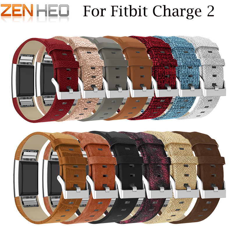 Leather Strap For Fitbit Charge 2 Bracelet Replacement Band For Fitbit Charge 2 Watch Band Strap Heart Rate Wristband Belt Band replacement luxury silicone watch band wrist strap for fitbit charge 2 bracelet580288