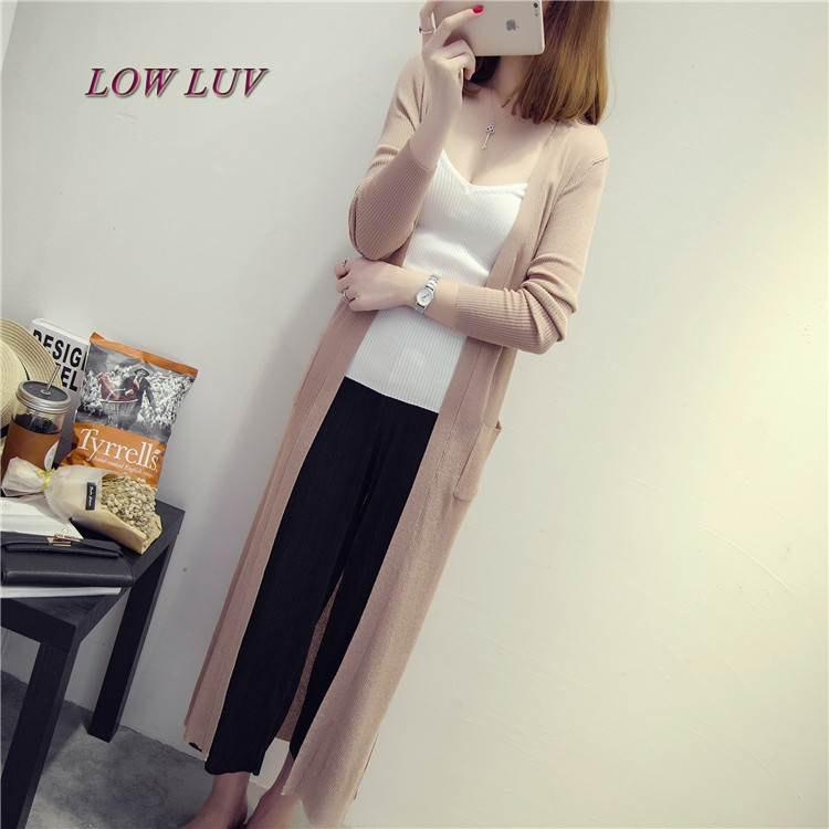 08be0c18645 Summer thin cardigan sweater female long section of ice silk shawl air  conditioned shirt jacket sun protection clothing-in Cardigans from Women s  Clothing ...