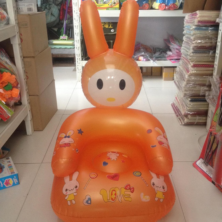Hot Sale Cute Inflatable Chair Lovely Cartoon Baby Chair PVC Kids Learn  Chairs Portable Baby Seats