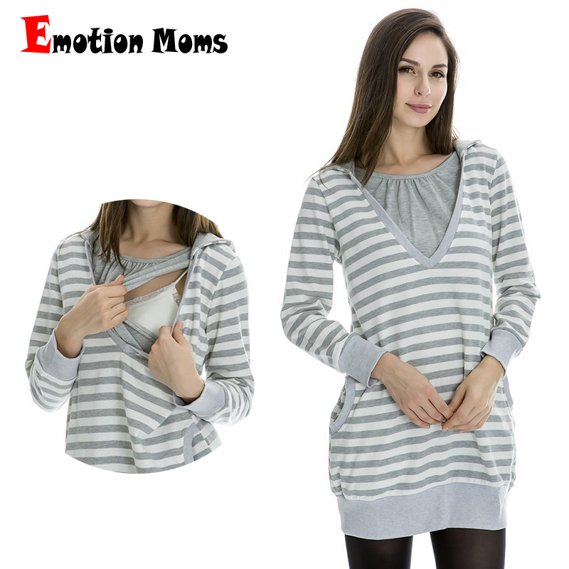 Emotion Moms Winter Breastfeeding tops Nursing Top Maternity pregnancy clothes for Pregnant Women Maternity Hoodies sweater стоимость